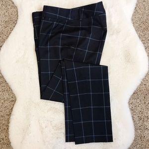 Brooks Brothers | Lucia Fit Blue Plaid Wool Pant 0